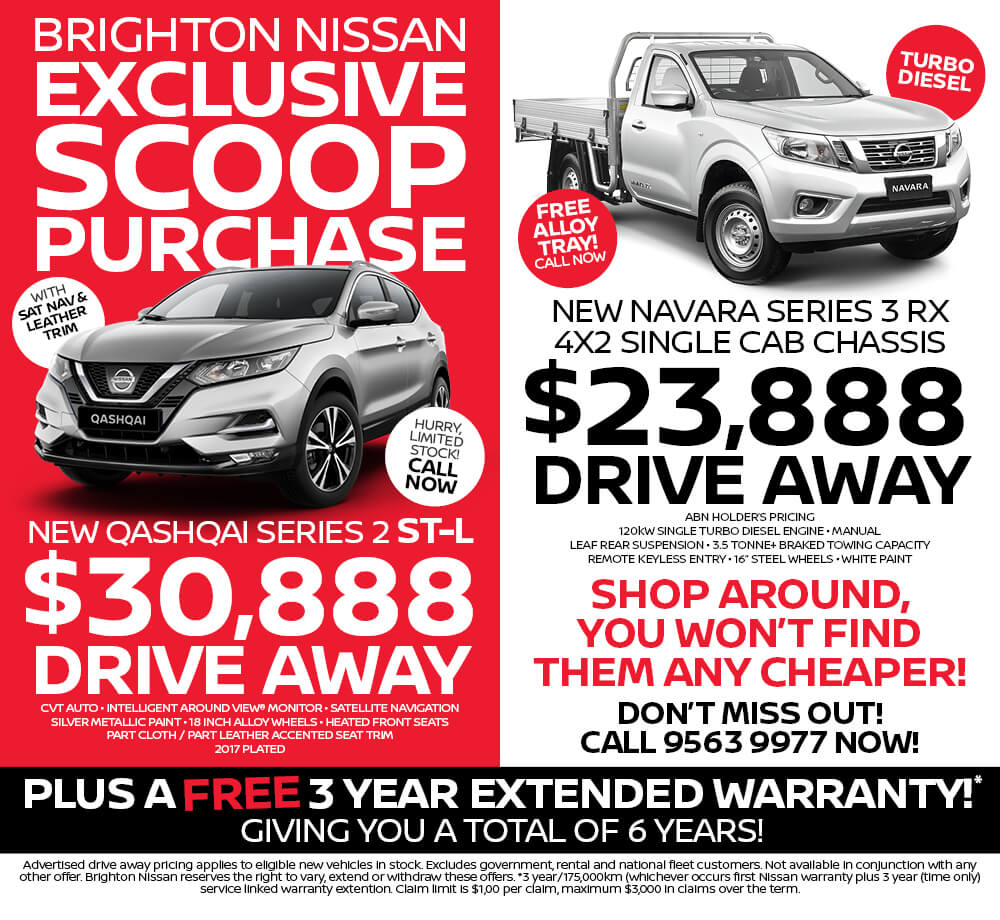 Brighton Nissan Exclusive Scoop Purchase