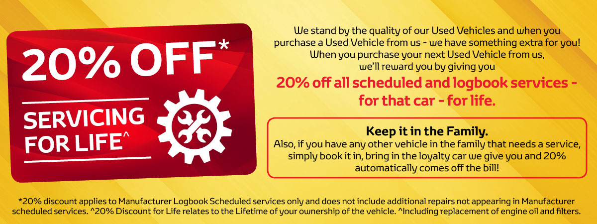 20%OFF-Servicing for Life