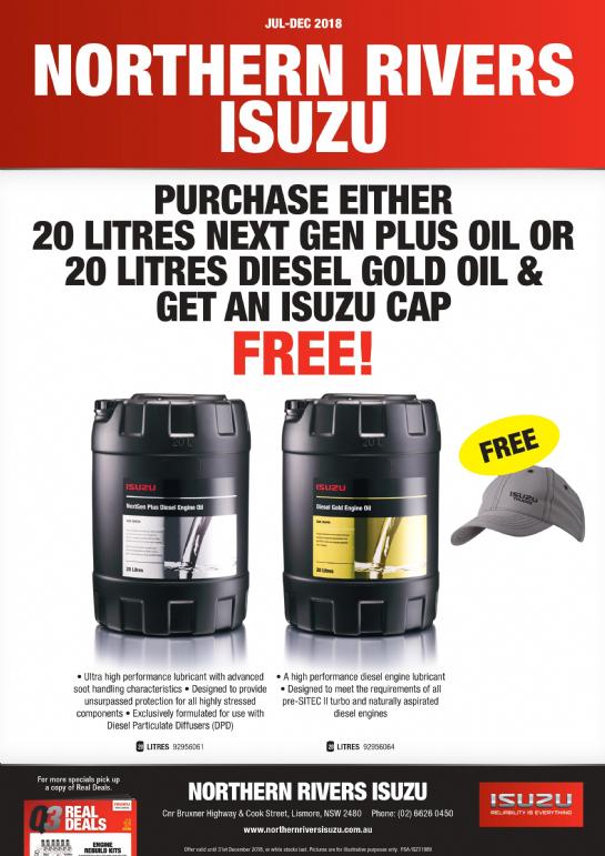 Free Isuzu Cap