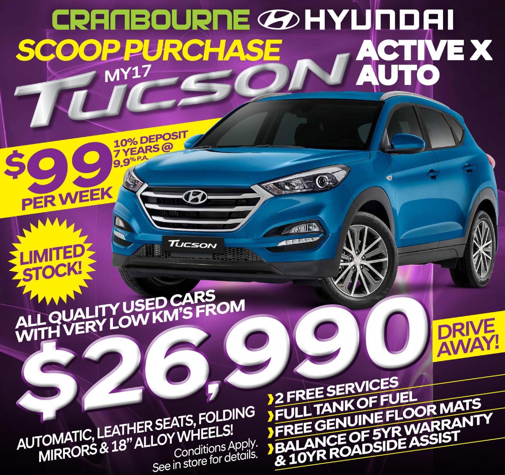 Hyundai Specials - Tucson