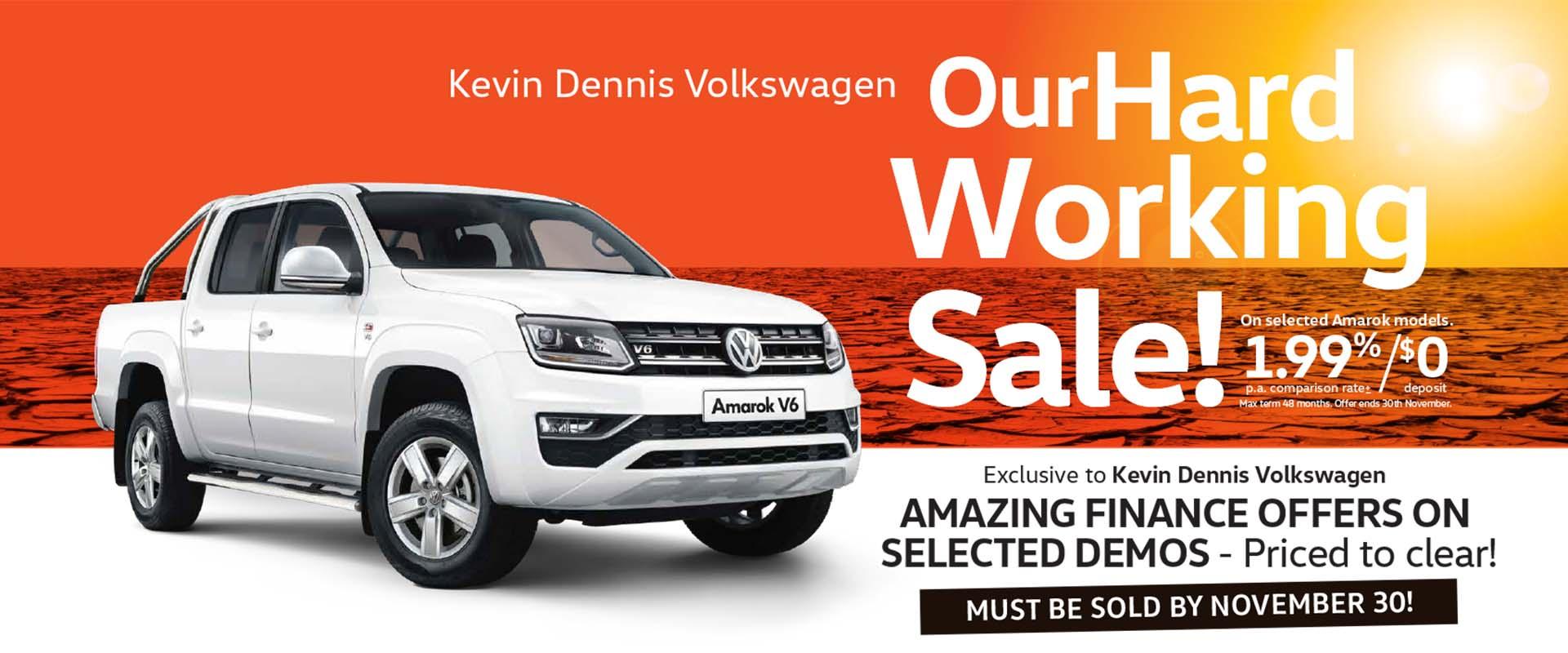 Kevin Dennis VW Our Hard Working Sale