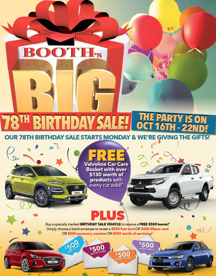 Booths Birthday Sale