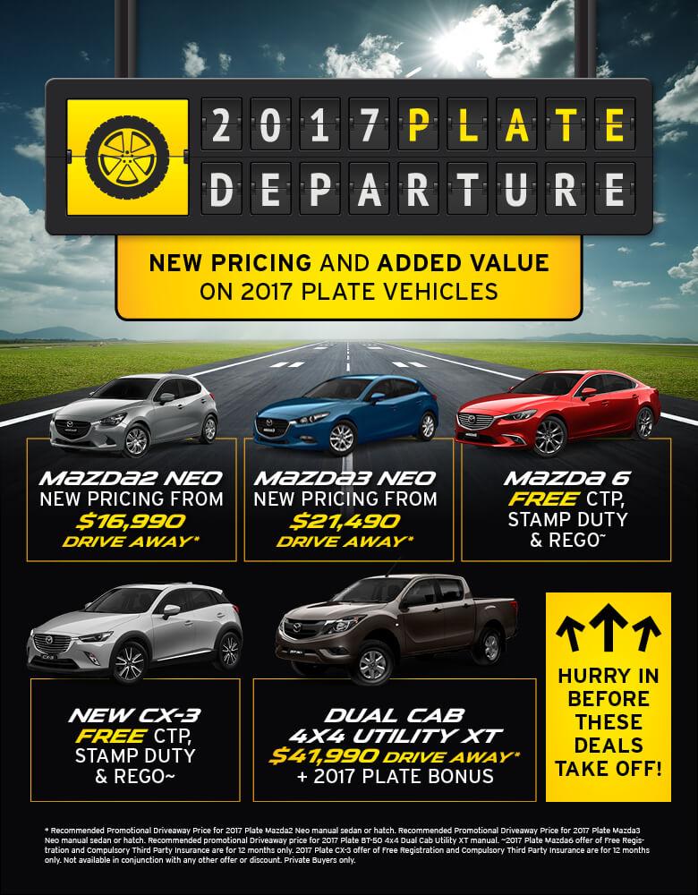 AMR Mazda 2017 Plate Departure