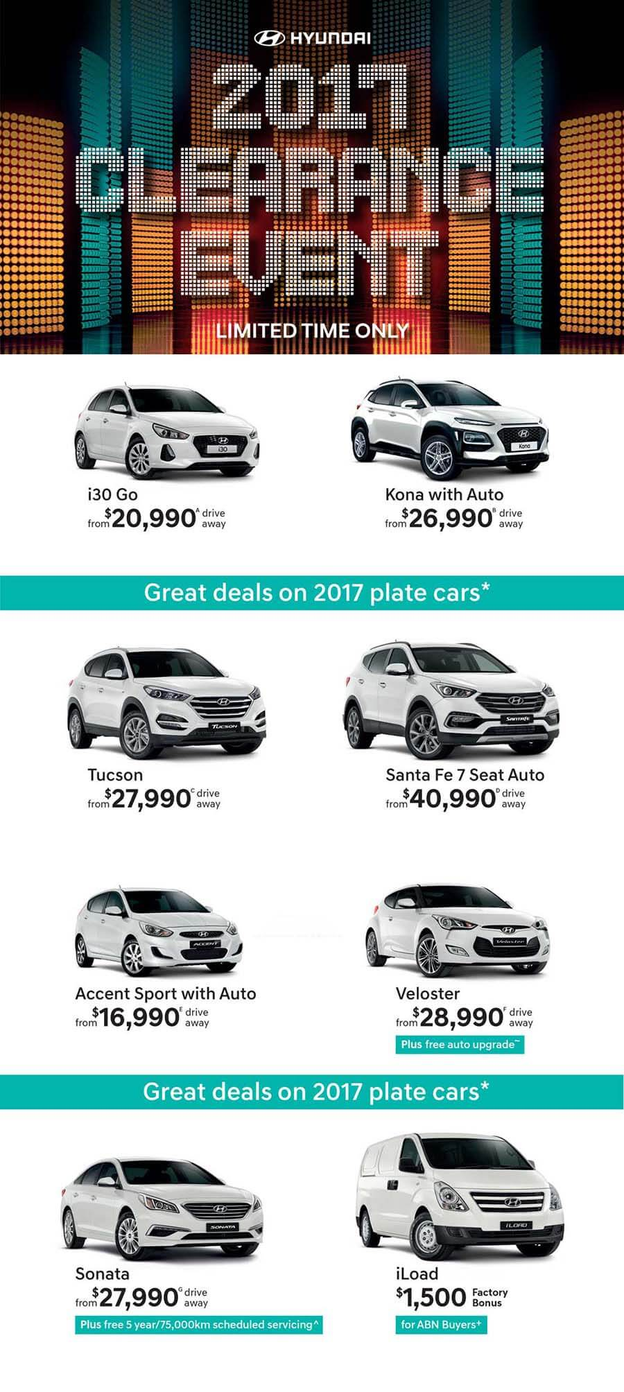 Booths Hyundai 2017 Clearance Event
