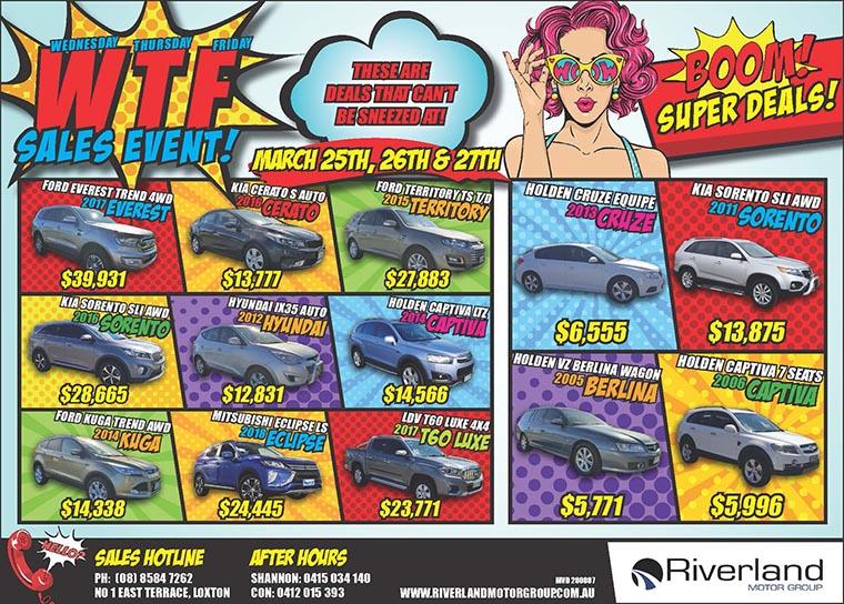 Riverland Motor Group WTF Sales Event