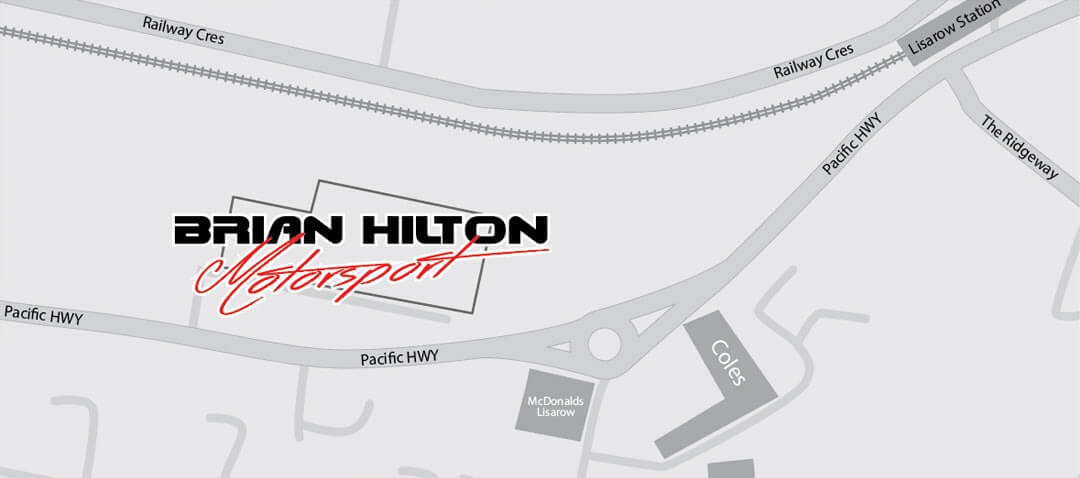 Brian Hilton Motor Sport Location Map