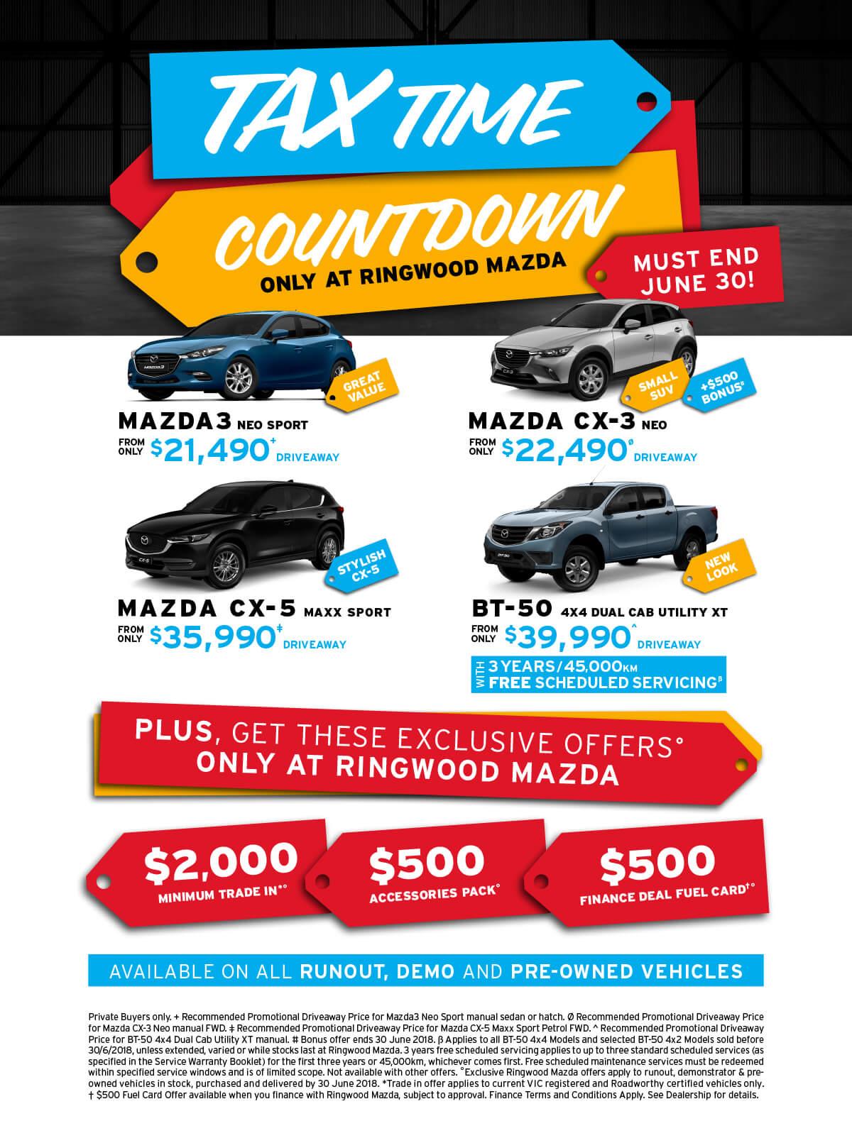 Ringwood Mazda May/June offer