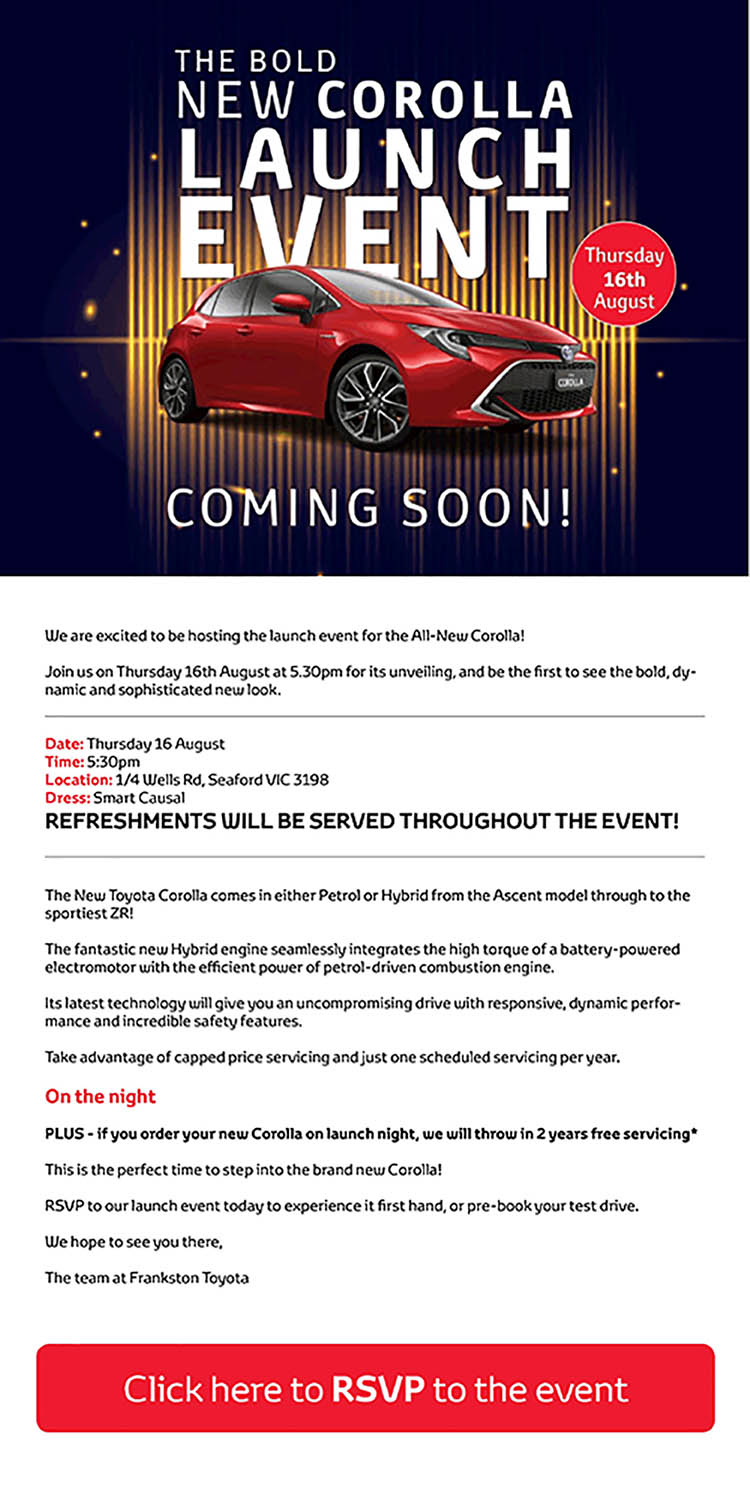 The Bold New Corolla Launch Event